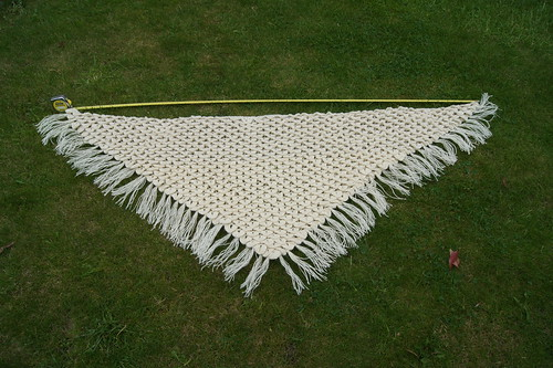 Crocodile stitch crochet shawl