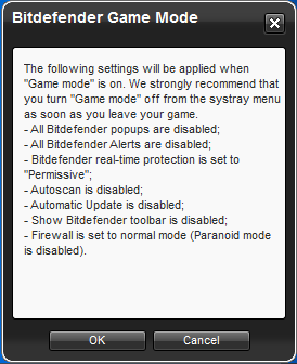 Bitdefender Internet Security 2012 Game Mode