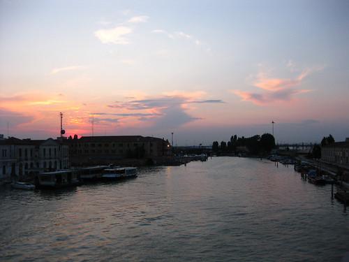 Sunset from Ponte Della Costituzione