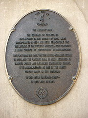 Photo of Cutlers' Hall, Sheffield bronze plaque