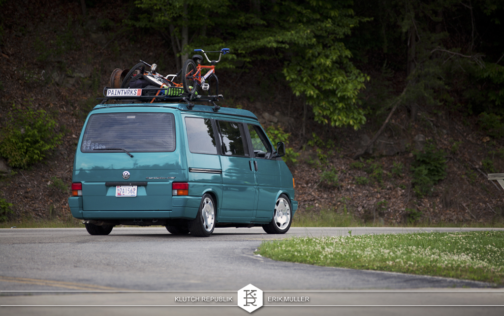 vw euro van lowered at southern worthersee 2012
