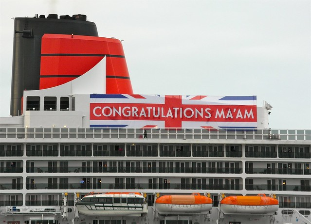 Queen Mary 2 Jubilee Banner