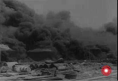 Tanc de petrol in flacari - 1944 Ploiesti 3