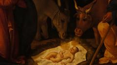 """Detail from Andrea Previtali's """"Il presepe e l'annuncio ai pastori"""""""