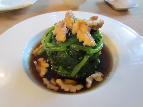 5 Jun 12 - Spinach with walnut on soya sauce.