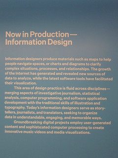"Wall text on 'information design' at ""Graphic Design: Now in Production"""