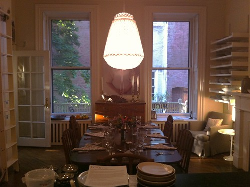 The dining room just before dinner