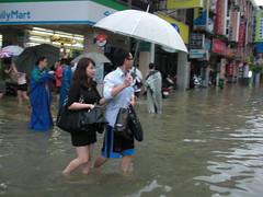 新北市板橋區暴雨成災,湯為筌攝