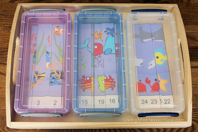 Ocean Number Order Puzzles