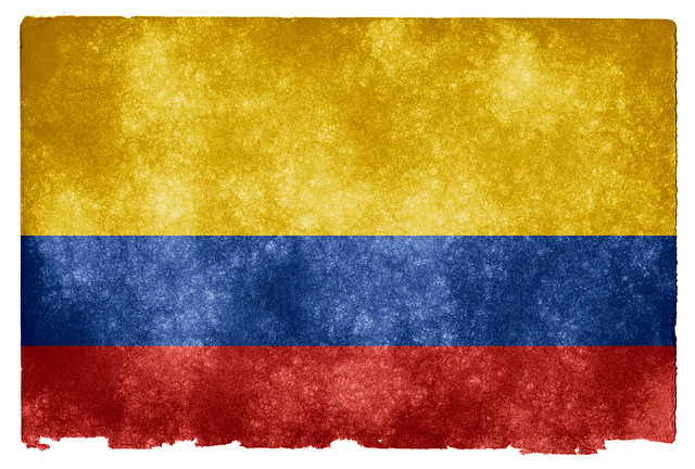 Colombia Grunge Flag from Flickr via Wylio