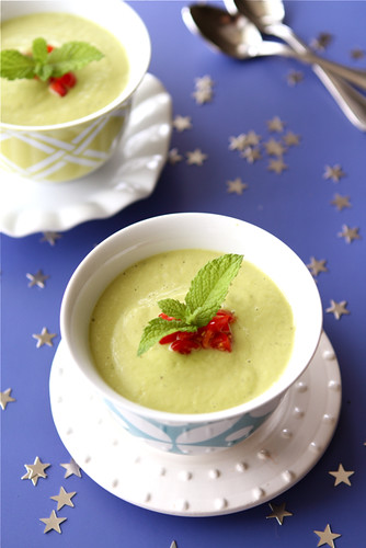 Chilled Avocado Soup Shots With Spicy Breadcrumbs Recipes — Dishmaps