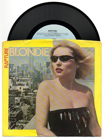 "Blondie ""Rapture"" b/w ""Walk Like Me"" - 7"" Picture Sleeve (1981)"