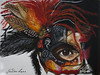 Warrior Princess Mask Acrylic Painting