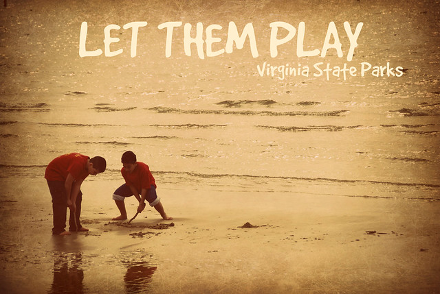 Kids playing at the beach at Kiptopeke State Park are doing what comes natural to them!