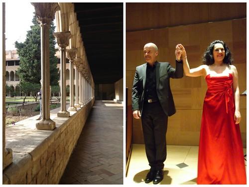 Recital de Lucía Salas, homenaje a Octavio Paz en el Monasterio de Pedralbes, Barcelona