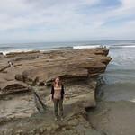 Emily avoiding the sea