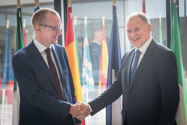 First visit of EU Commissioner for health and Consumer Safety Vytenis Andriukaitis at EFSA in Parma, Italy