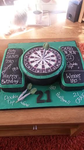 Dart Inspired Cake by Cheryl Firzsimmons