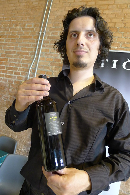 Miha Batič and his 2007 Zaria: this wine unexpectedly and elegantly attacked my senses, mesmerizing me at once.