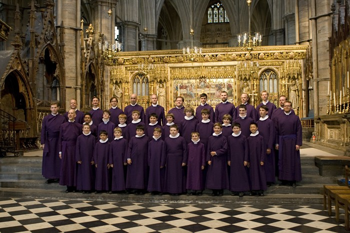 Grace Cathedral Choir of Men and Boys in Westminster Abbey in London, England