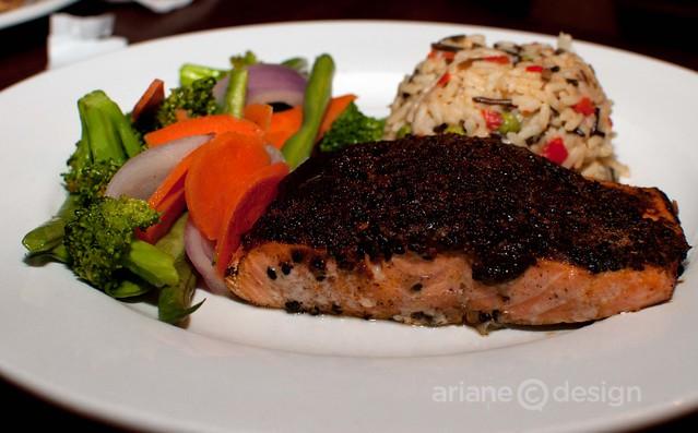 Blackened crusted salmon