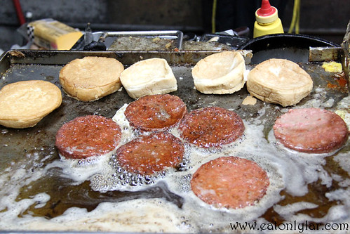 Patties cooked in Margarine, OM Burger