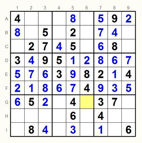 Unsolved sudoku 1