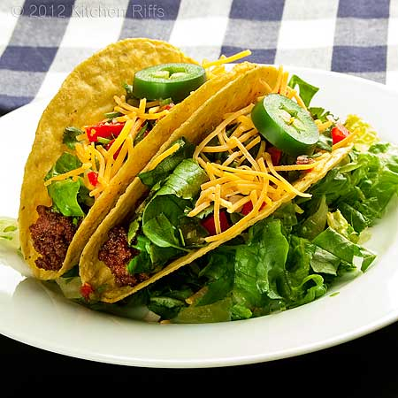 Tacos on Plate, with Napkin