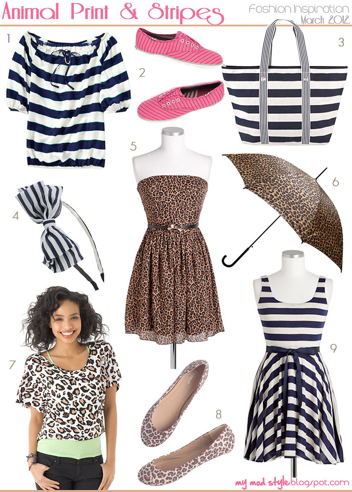 fashion inspiration animal print and stripes
