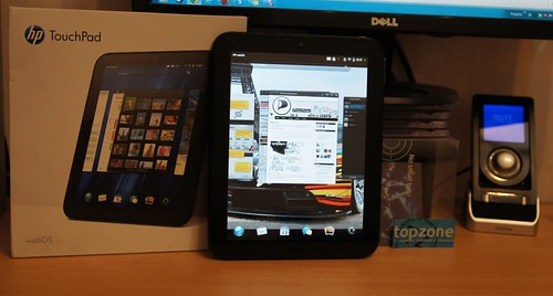 HP TouchPad   Android 4.0 ICS CM9 ir Web