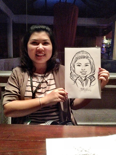 caricature live sketching for Westminister Travel (S) Pte Ltd