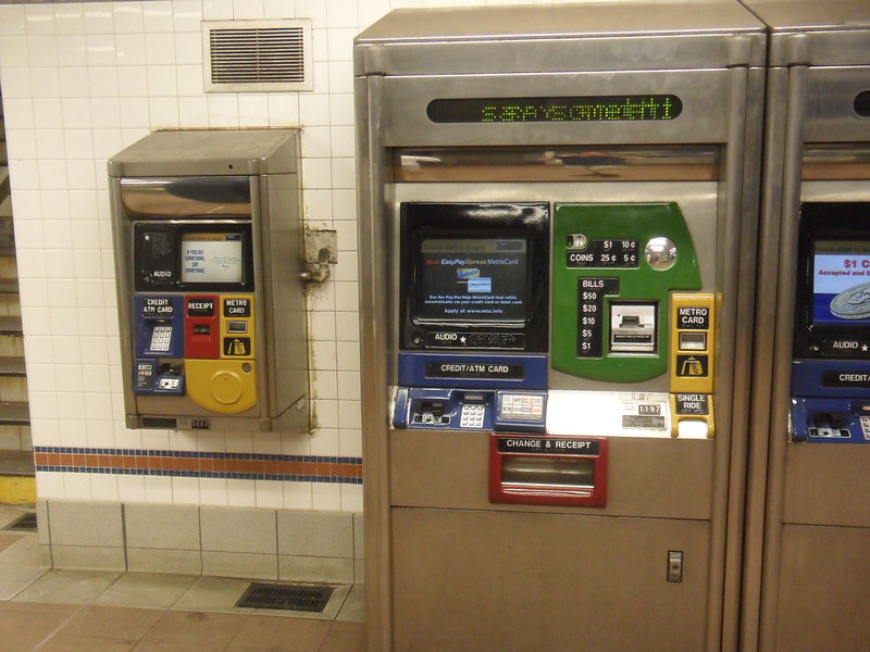 MetroCard vending machine, in accessible and regular versions