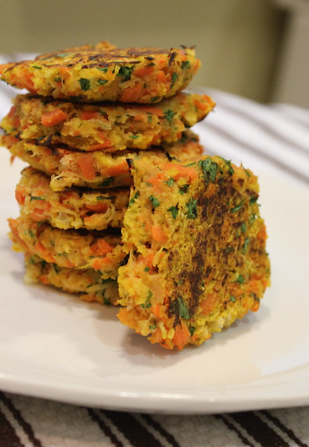 lentils and carrots fritters