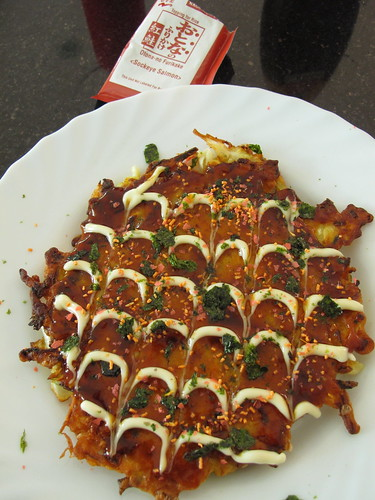 Okonomiyaki (Japanese savoury pancake)