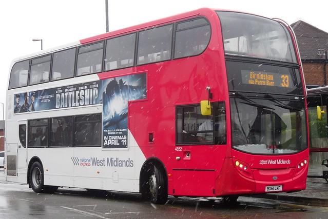 National Express West Midlands Alexander Dennis Enviro400 4852 (BX61 LMF)