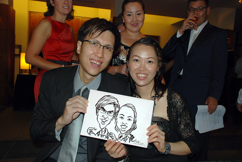 caricature live sketching for Rio Tinto Dinner & Dance - 11
