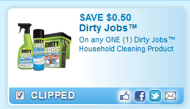 Dirty Jobs Household Cleaning Product Coupon