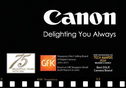 Canon's PC Show 2012 promotions for printers, inks, DSLRs, camera and camcorders.