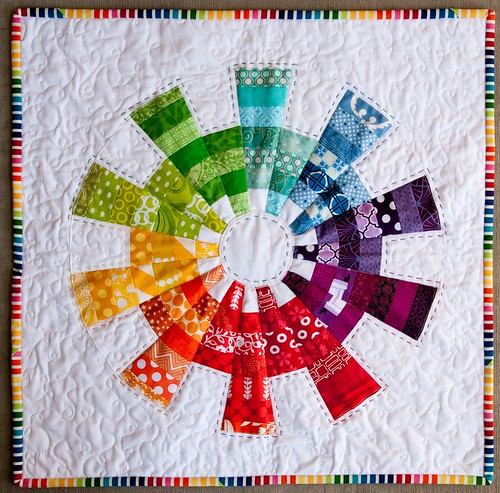 Finished EZ Dresden Challenge Mini Quilt