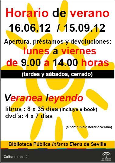 Nuevo horario de las bibliotecas provinciales en Andalucía.