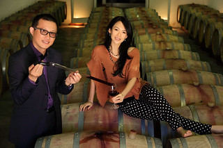 Richard Shen and the face of Chateau Laulan Ducos,