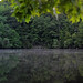 6-6-2012 canopus lake putnam county new york dusk stone outcropping reflection panorama watermark