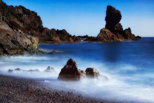 ocean longexposure blue beach water rock lava peninsula ísland snæfellsnes snaefellsnes djúpalónssandur djupalonssanduriceland