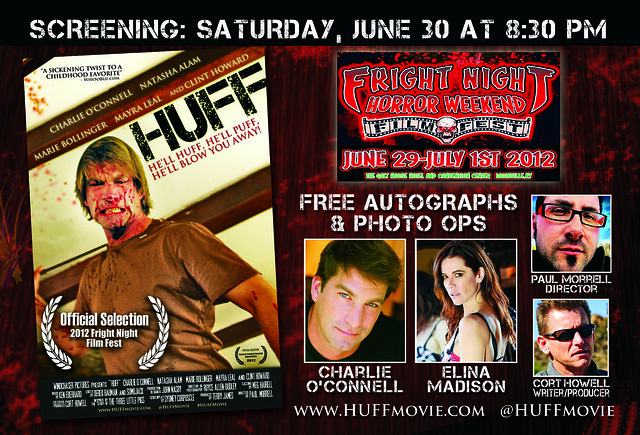 HUFF Movie Screening June 30th 8:30PM, Fright Night Film Festival, Louisville Kentucky