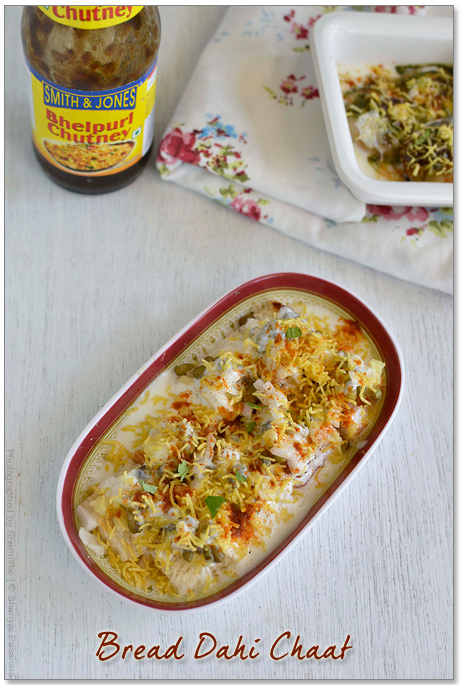 Bread Dahi Vada - Chat Style Recipe