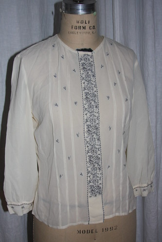 Embroidered shirt front