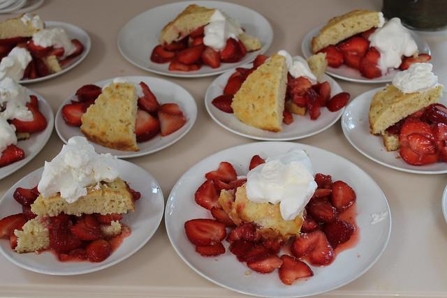 Our dessert...love strawberry shortcake