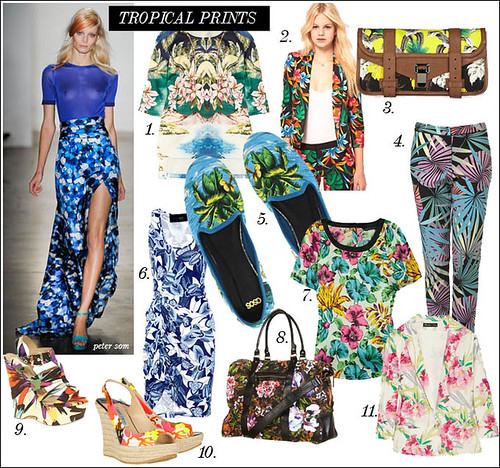 spring summer 2012 trend tropical floral print