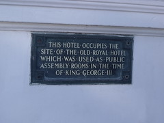 Photo of George III and Royal Hotel, Weymouth bronze plaque