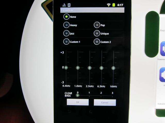 Sony Walkman Z1050 - Equalizer